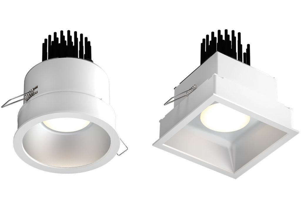 The vantage Capela® fixtures shows in square and round shapes.