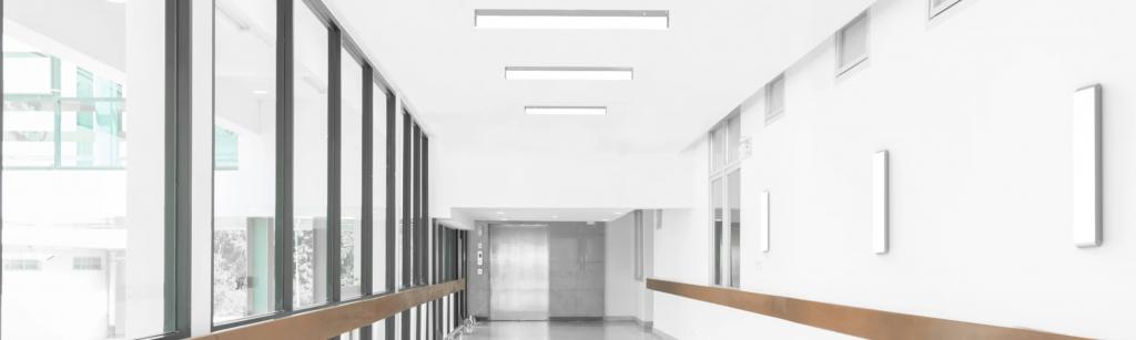 XtraLight's Vigor fixtures show down an elegant hall.